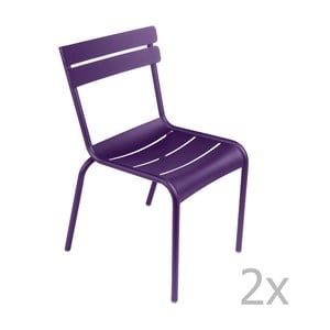 Sada 2 fialových stoličiek Fermob Luxembourg