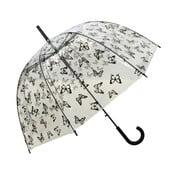 Transparentný dáždnik Birdcage Butterflies, ⌀83 cm