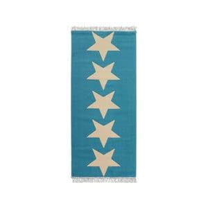 Modrý koberec Hanse Home Stars, 80×200 cm