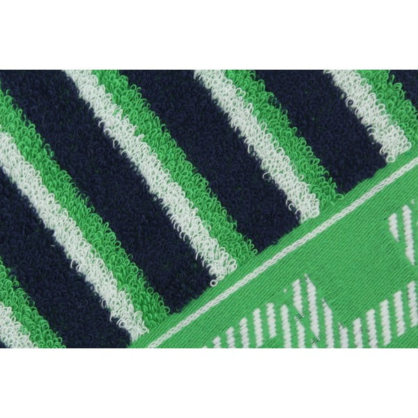 Zeleno-modrý bavlnený uterák BHPC, 50x100cm