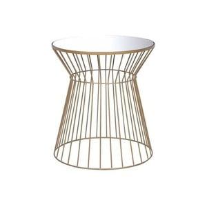 Odkladací stolík v zlatej farbe Monobeli Daisy, ø 40 cm