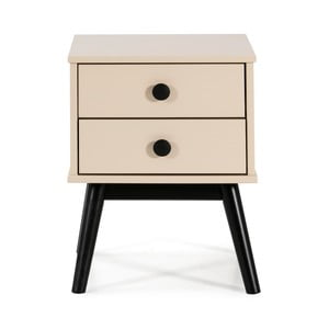 Nočný stolík so zásuvkami v krémovej farbe Marckeric Clem