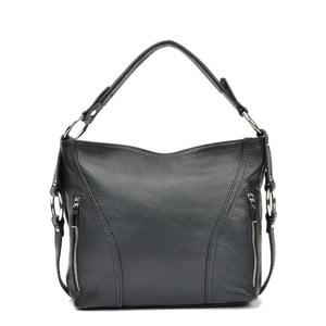 Čierna kožená kabelka Carla Ferreri Bethany