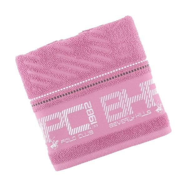 Pastelovoružový bavlnený uterák BHPC, 50x100 cm