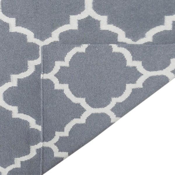 Vlnený koberec Elizabeth Grey, 90x60 cm