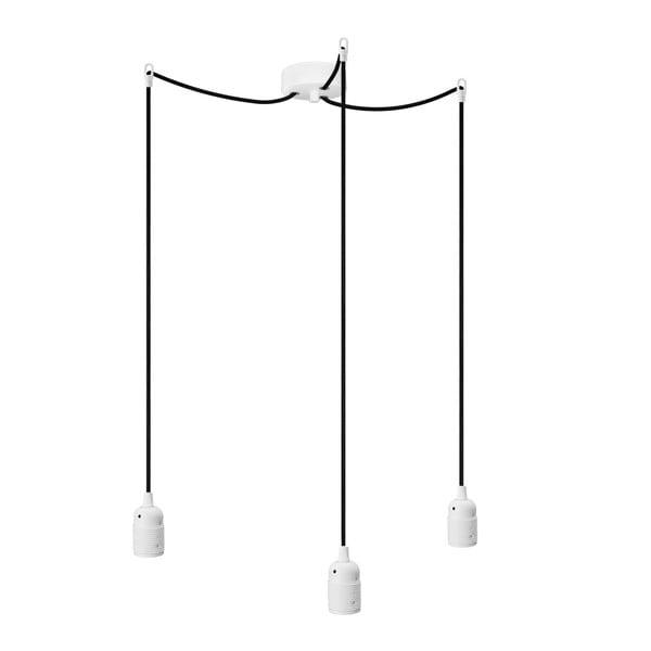 Trojitý závesný kábel Uno, biela/čierna/biela