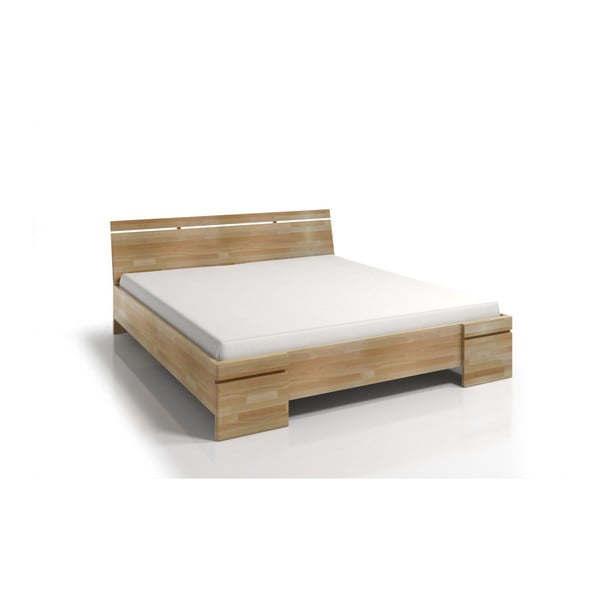 Dvojlôžková posteľ z bukového dreva s úložným priestorom Skandica Sparta Maxi, 140×200cm