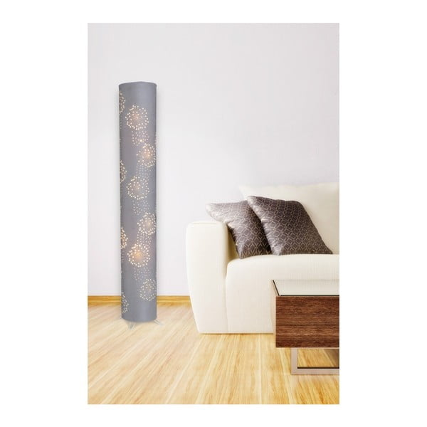 Sivá voľne stojacia lampa Naeve Löwenzahn