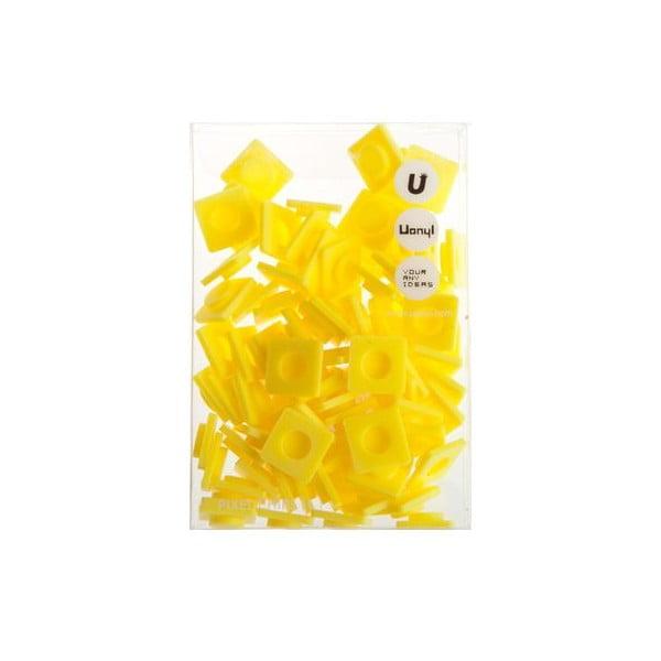 Sada 80 veľkých pixelov, banana yellow