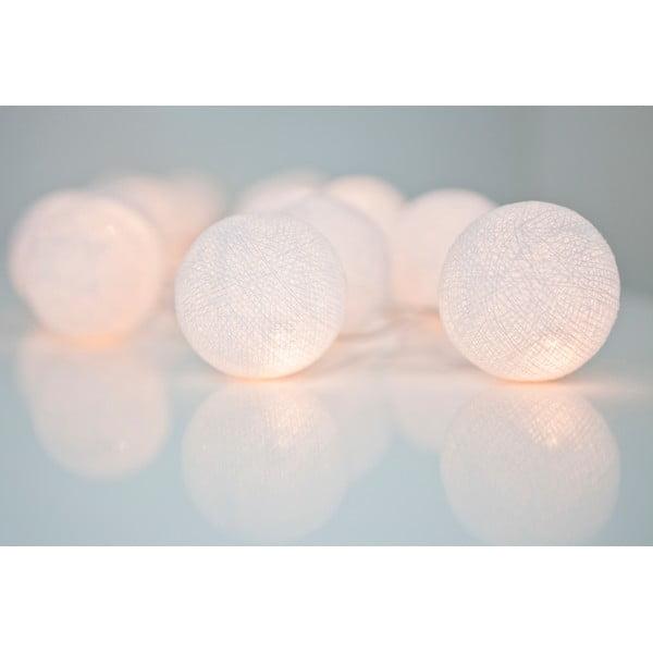 Svetelná reťaz Irislights Pure White,20guľôčok