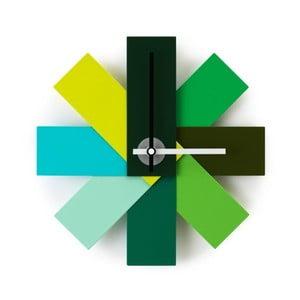 Nástenné hodiny Watch Me, zelené