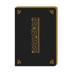 Linajkový zápisník A6 s monogramom Portico Designs I, 160stránok