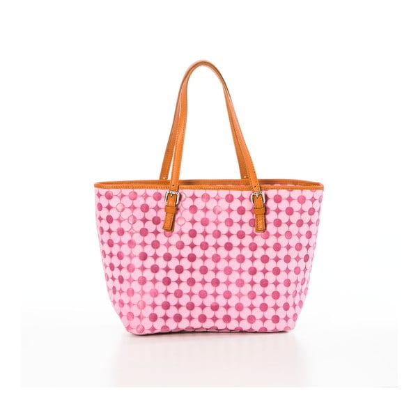 Ružová kožená kabelka Federica Bassi Margherita