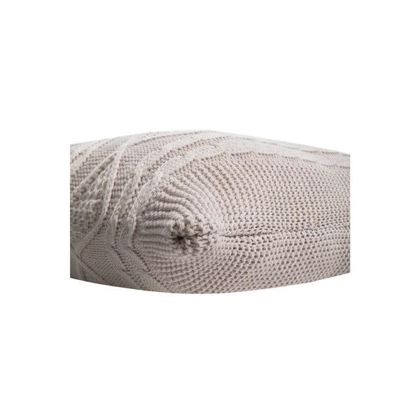 Pletená obliečka na vankúš Kosem Stone, 43x43 cm