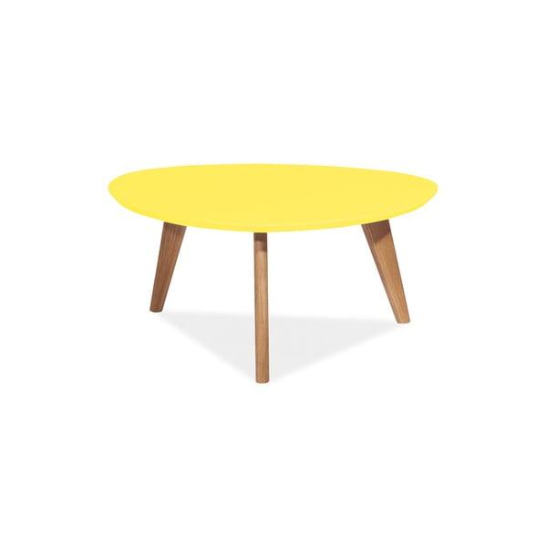 Konferenčný stolek Milan 80 cm, žltý