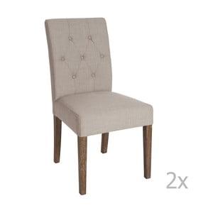 Sada 2 hnedých jedálenských stoličiek J-Line Louis