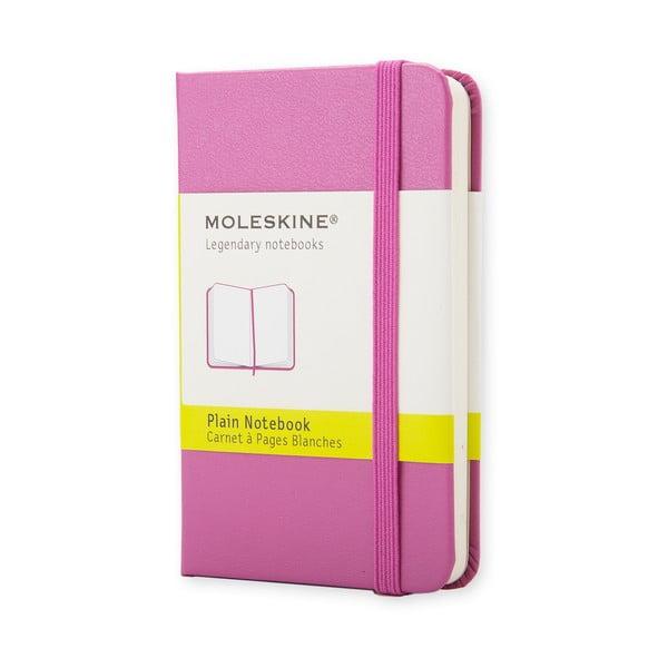 Ružový minizápisník Moleskine, nelinajkový