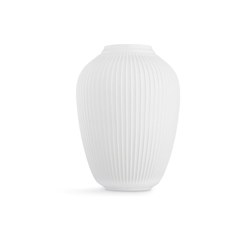 Biela voľne stojacia kameninová váza Kähler Design Hammershoi, výška 50 cm
