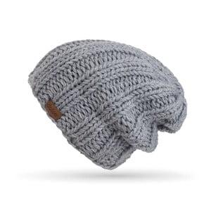 Svetlosivá ručne pletená čiapka DOKE Mina