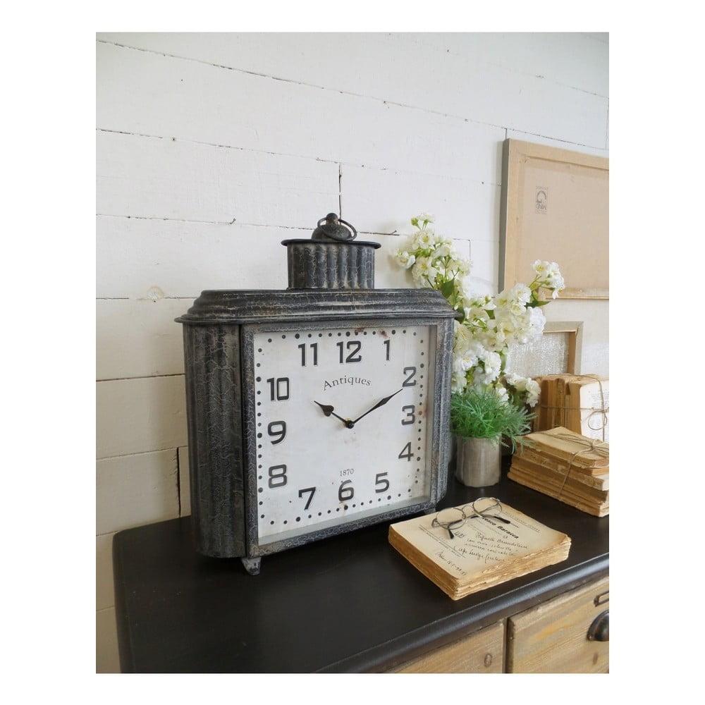Železné stolové hodiny Orchidea Milano Vintage, výška 50 cm