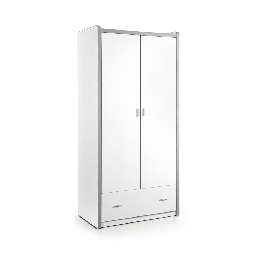 Biela šatníková skriňa Vipack Bonny, 202 × 60 × 96,5 cm