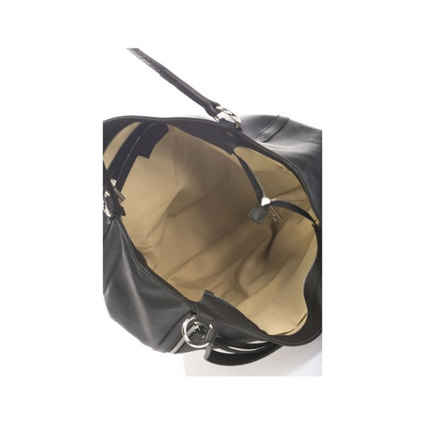 Kožená kabelka Krole Kelly, čierna