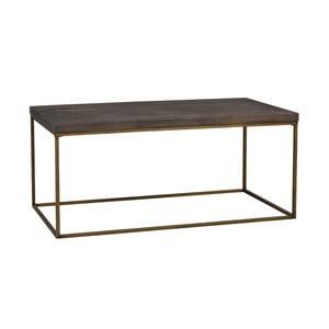 Hnedý drevený konferenčný stolík Folke Brogge