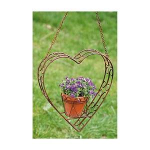 Závesný držiak na kvetináč Heart