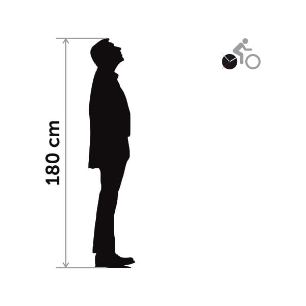 Hodiny so samolepkou Bike