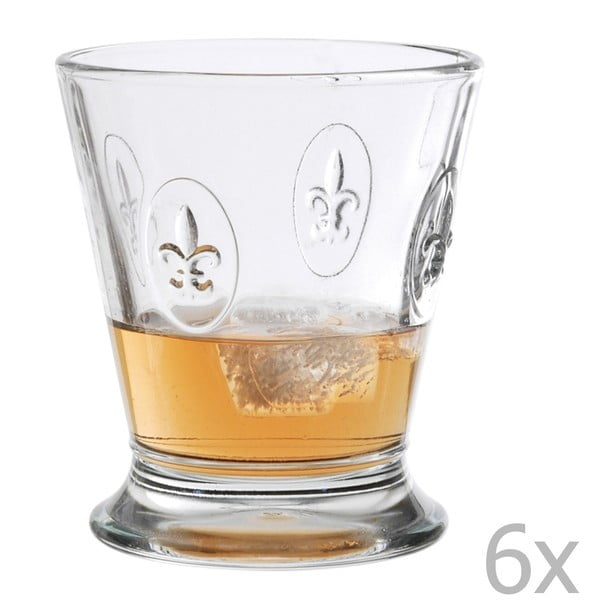 Sada 6 pohárov Fleur de Lys, 250 ml