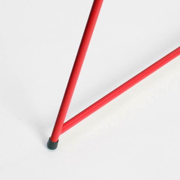 Červená noha ku stolu Master & Master Diamond Narrow, 70x55cm