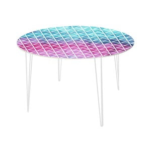 Jedálenský stôl Pink and Blue, 120 cm