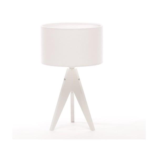 Stolná lampa Arist Cylinder White/White