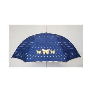 Dáždnik Alvarez Dots Blue Butterlfy