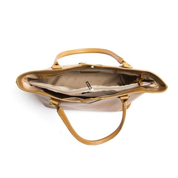 Koňakovohnedá kožená kabelka Ellie 440 Cognac