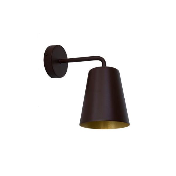 Hnedé nástenné svetlo Loft You Pot