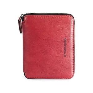 Červená peňaženka z talianskej kože Tucano Sicuro