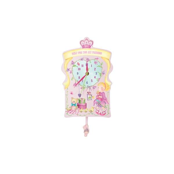 Ružové nástenné hodiny Parete