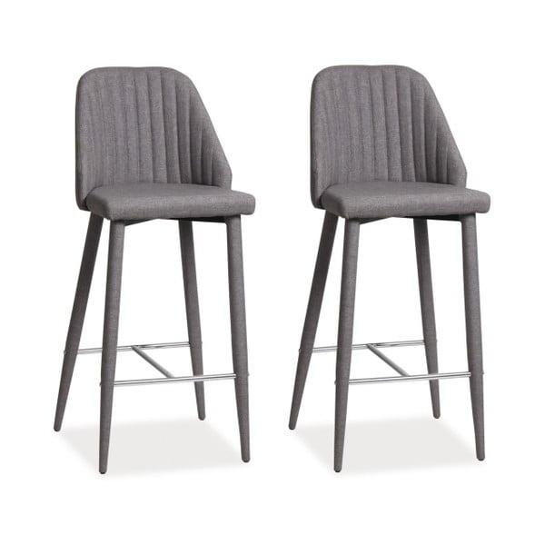 Sada 2 barových stoličiek Joko Grey