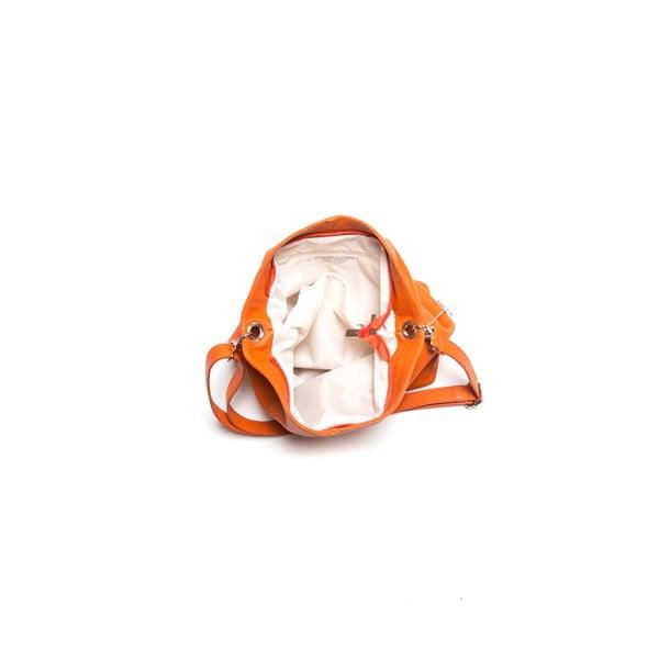 Kožená kabelka Luisa Vanini 1029 Arancio