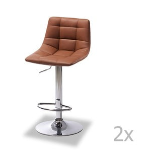 Sada 2 barových světle hnědých židlí Furnhouse Mario