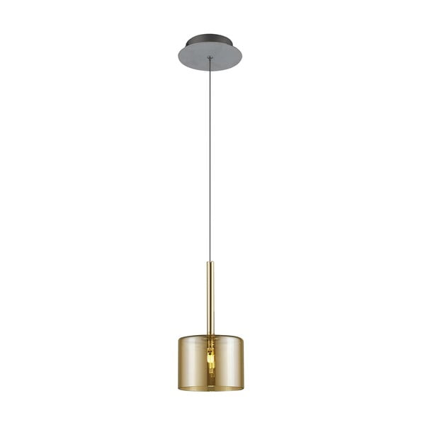 Zlaté závesné svietidlo Alize, Ø 14 cm