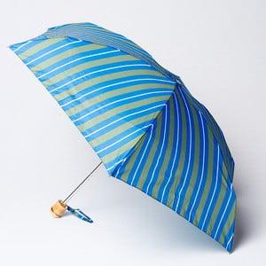 Skladací dáždnik Alvarez Stripe Green Blue