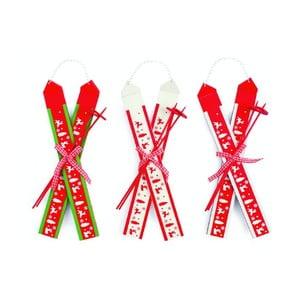 Set 3 dekorácií Hanging Ski