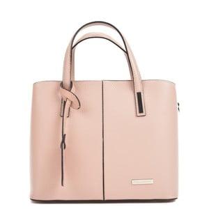 Ružová kožená kabelka Sofia Cardoni Prisca