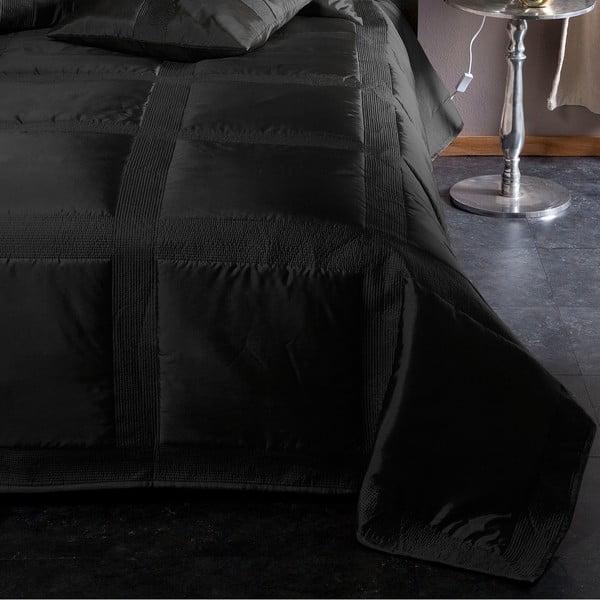 Prikrývka na posteľ Montana Black, 220x270 cm