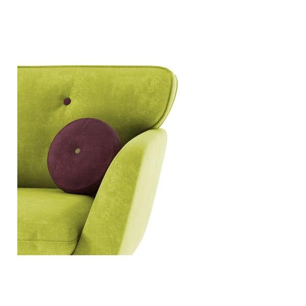 Kreslo Alva, zelená/fialová