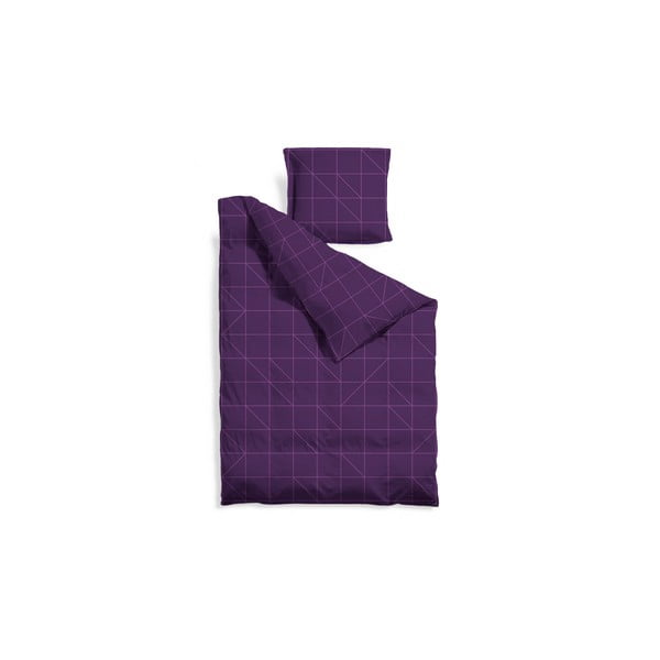 Predĺžené obliečky Purple Geometric, 140x220 cm