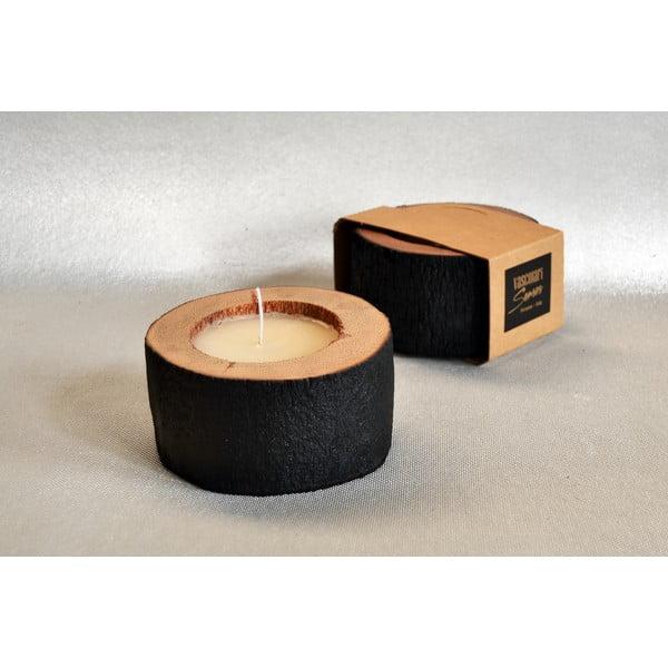 Palmová sviečka Legno Palma s vôňou vanilky a pačuli, 40 hodín horenia