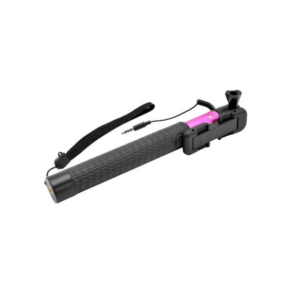 Teleskopická selfie tyč FIXED, ružová